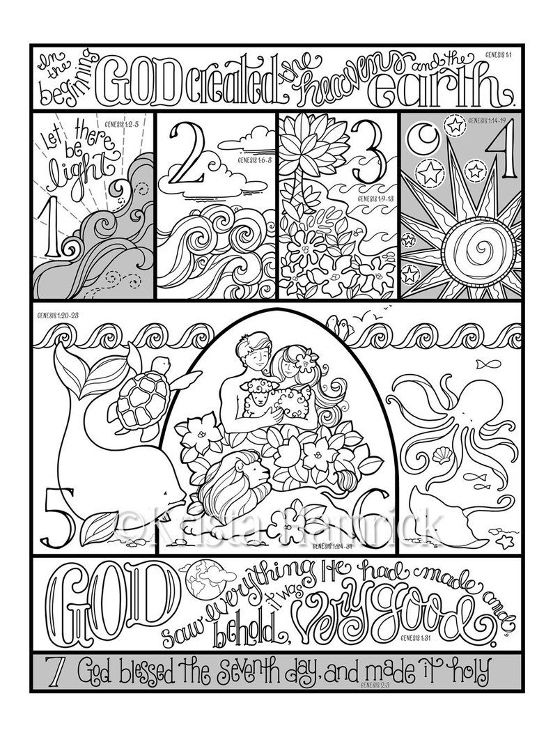 13+ Creation coloring pages free information