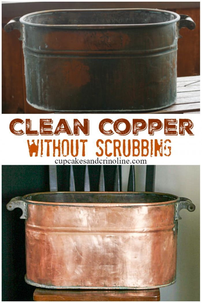 How to's : How-to clean copper without scrubbing. Get the details at www.cupcakesandcrinoline.com