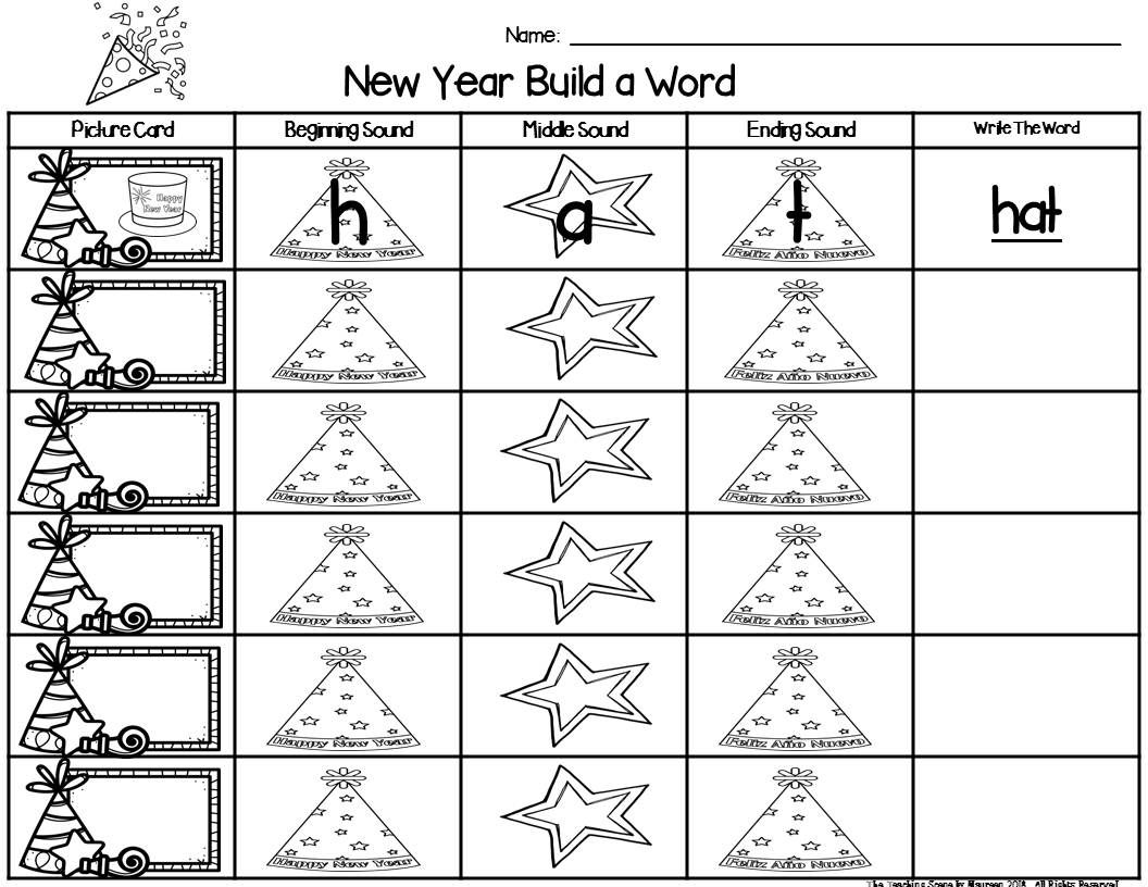 New Year Build A Cvc Word