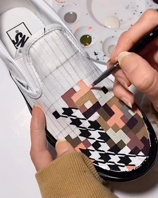 Custom Vans Shoes Painting Art