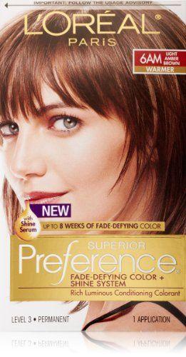 L Oreal Paris Superior Preference Hair Color 6am Light Amber Brown L Oreal Paris Http Www Amazon Com Dp B000kpvx0g Ref Cm Sw Loreal Paris Loreal Hair Color