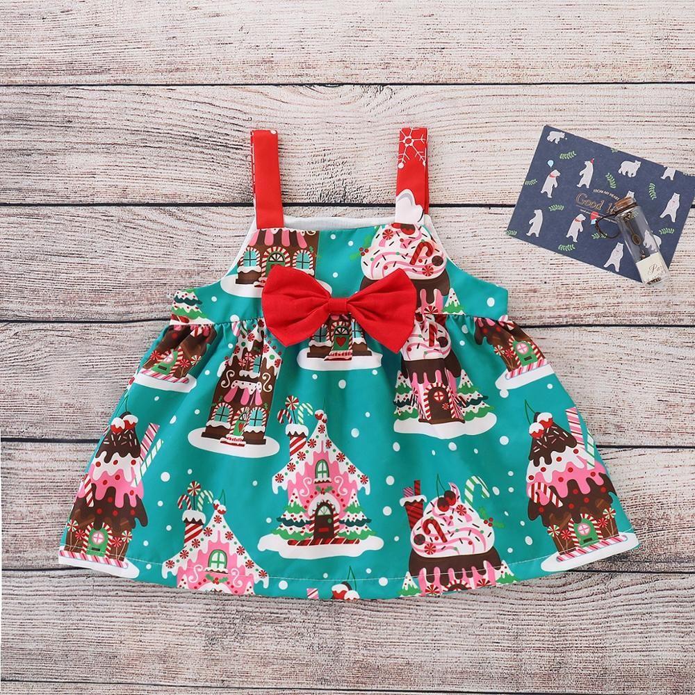 ce736fce484d0 2018 Brand New Christmas Toddler Baby Girl Dress KIDS Sleeveless ...