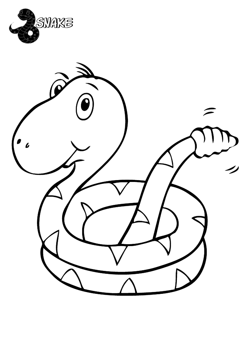 Snake Coloring Pages For Kids | Bratz Coloring Pages | Snake ...