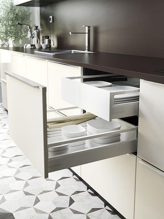Comment agrandir une petite cuisine cuisine ikea - Ikea rangement tiroir cuisine ...