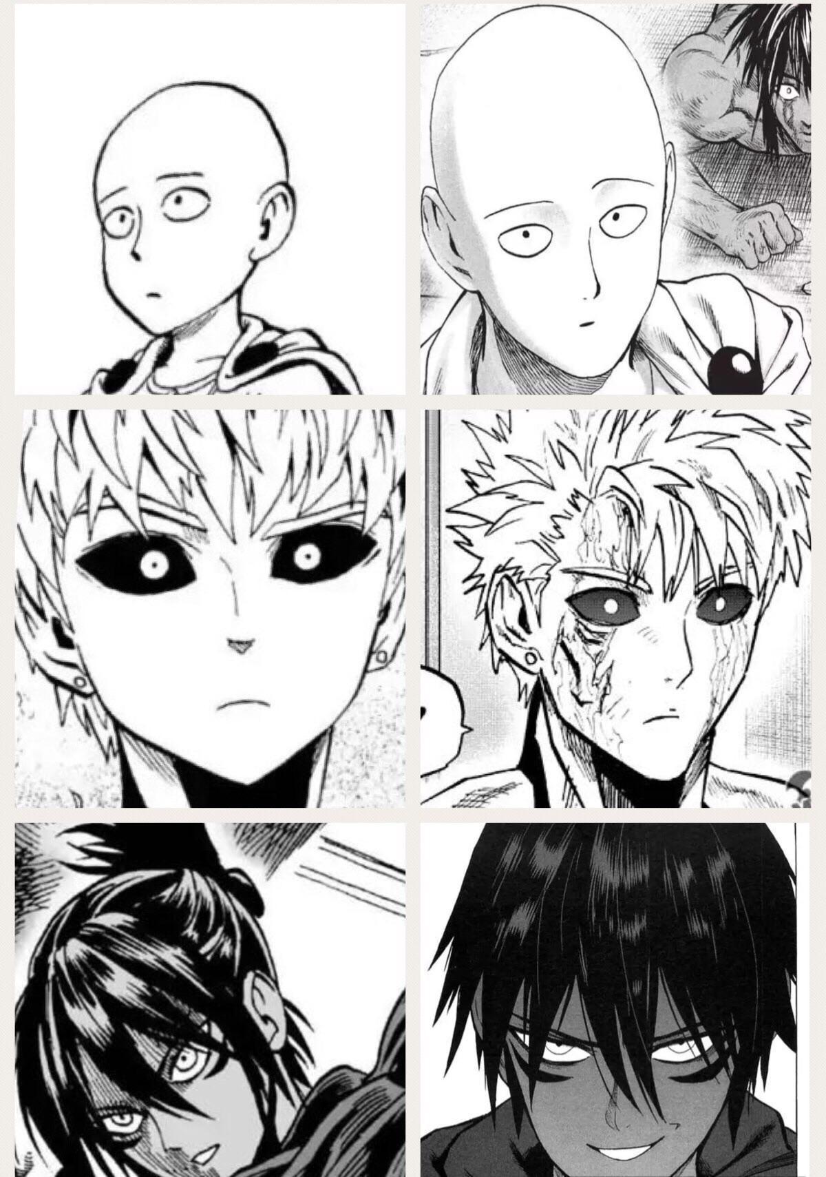 Evolution Of Muratas Art Style Manga One Punch Man Saitama Anime