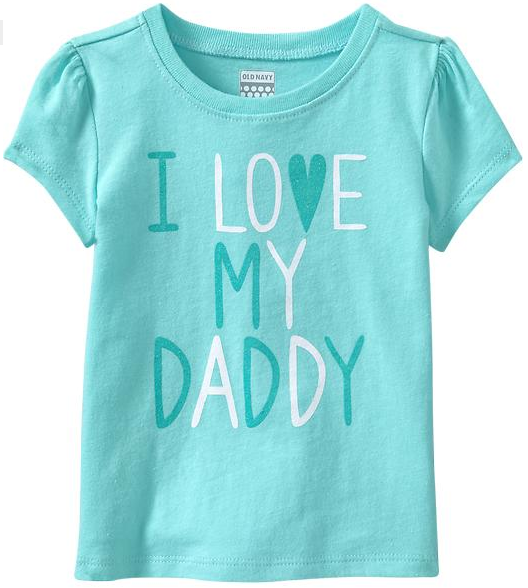 """Dress the Baby Toddler for Father s Day with """"I Love My"""