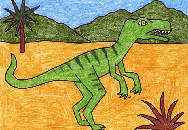 How To Draw A Velociraptor Art Projects For Kids Art Projects Kids Art Projects Easy Art For Kids