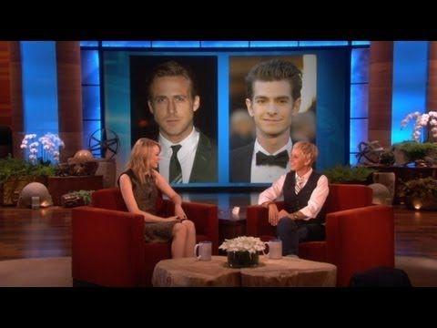 Emma Stone Kisses And Tells Is Ryan Gosling Or Andrew Garfield A Better Kisser Funny Interview Good Kisser Emma Stone