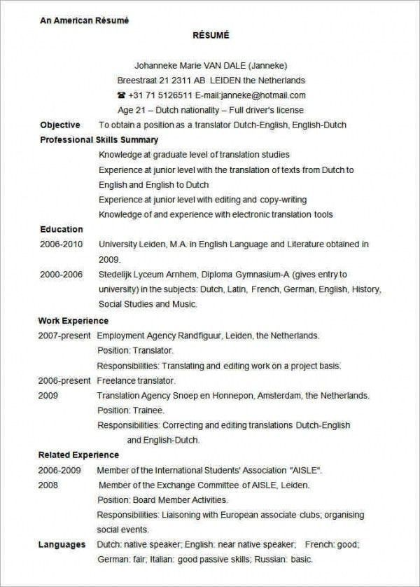 u s  resume format professional  format  professional