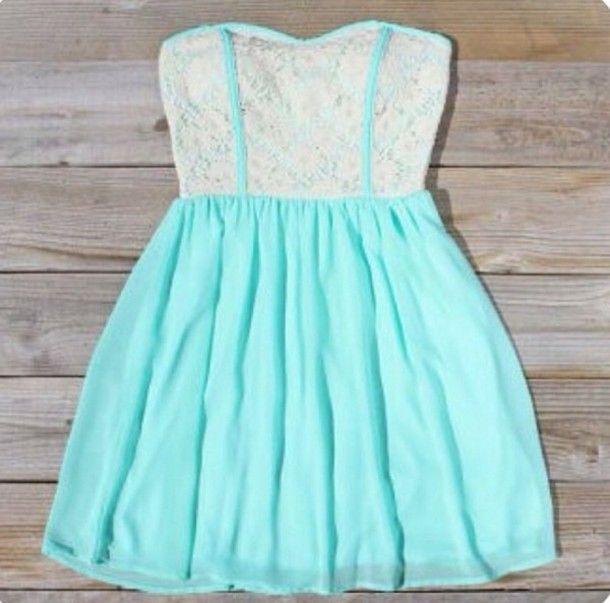 Cute Strapless Dresses Photo Album - Reikian