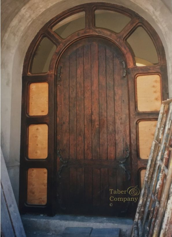 Taberandcompany Mediterranean Style Wood Door With Arch Custom