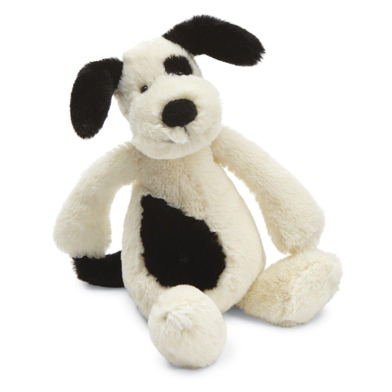 16.00 Jellycat Bashful Black & Cream Puppy, Medium at www