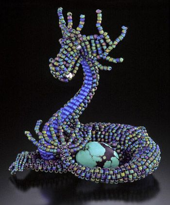 Kali Butterfly - Beaded Sculpture and Award-Winning Bead Embroidery by Vanessa Walilko | Crafts ...
