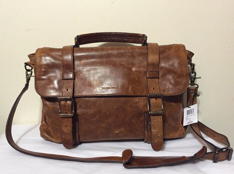 Frye Logan Flap Brief Case Men s Cognac Vintage Leather Shoulder   Messenger  Bag  Frye  MessengerShoulderBag 42c4d1048b960