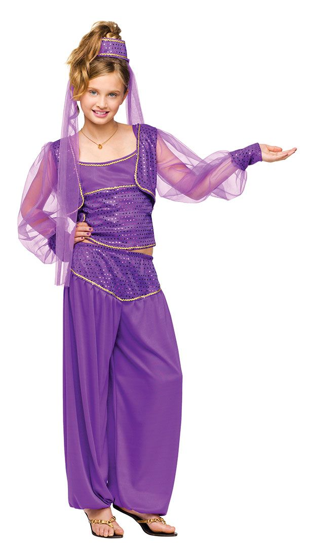 Girls Dreamy Genie Jasmine Costume | Halloween | Pinterest | Para niños