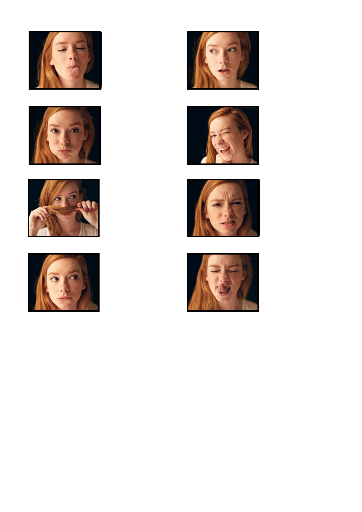Tiles For The Facial Expression Matching Game Find The