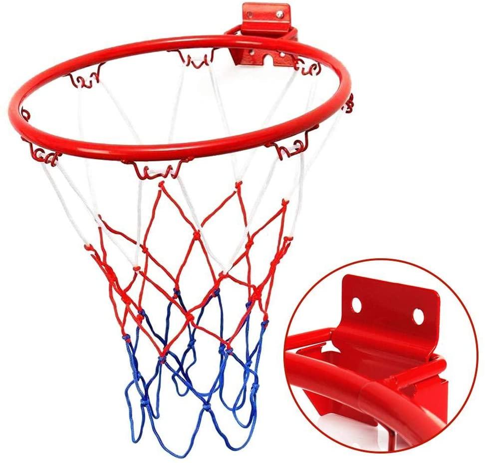 Basketball Rim Basketball Hoop With Net Screw Hanging Basketball Wall Mounted Goal Hoop Rim Basketball Hoop Net Ring Fo Basketball Wall Basketball Rim Hoop Net