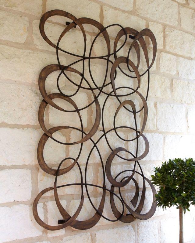 Metal Wall Art Circles - Foter | Half bath | Pinterest | Metal wall ...