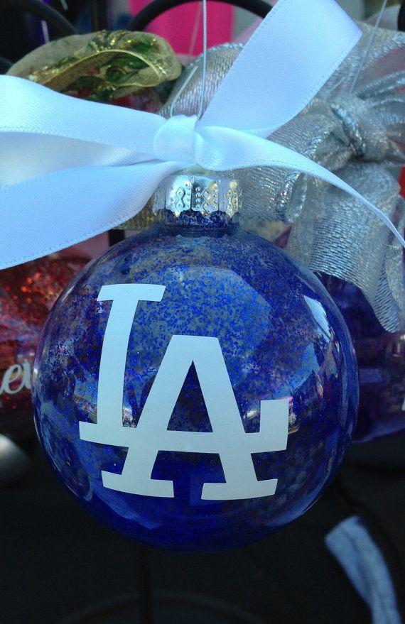 La Dodgers Christmas Ornament Bulb Los Angeles Baseball Blue Sports Los Doyers Baseball Christmas Tree Christmas Ornaments Baseball Christmas