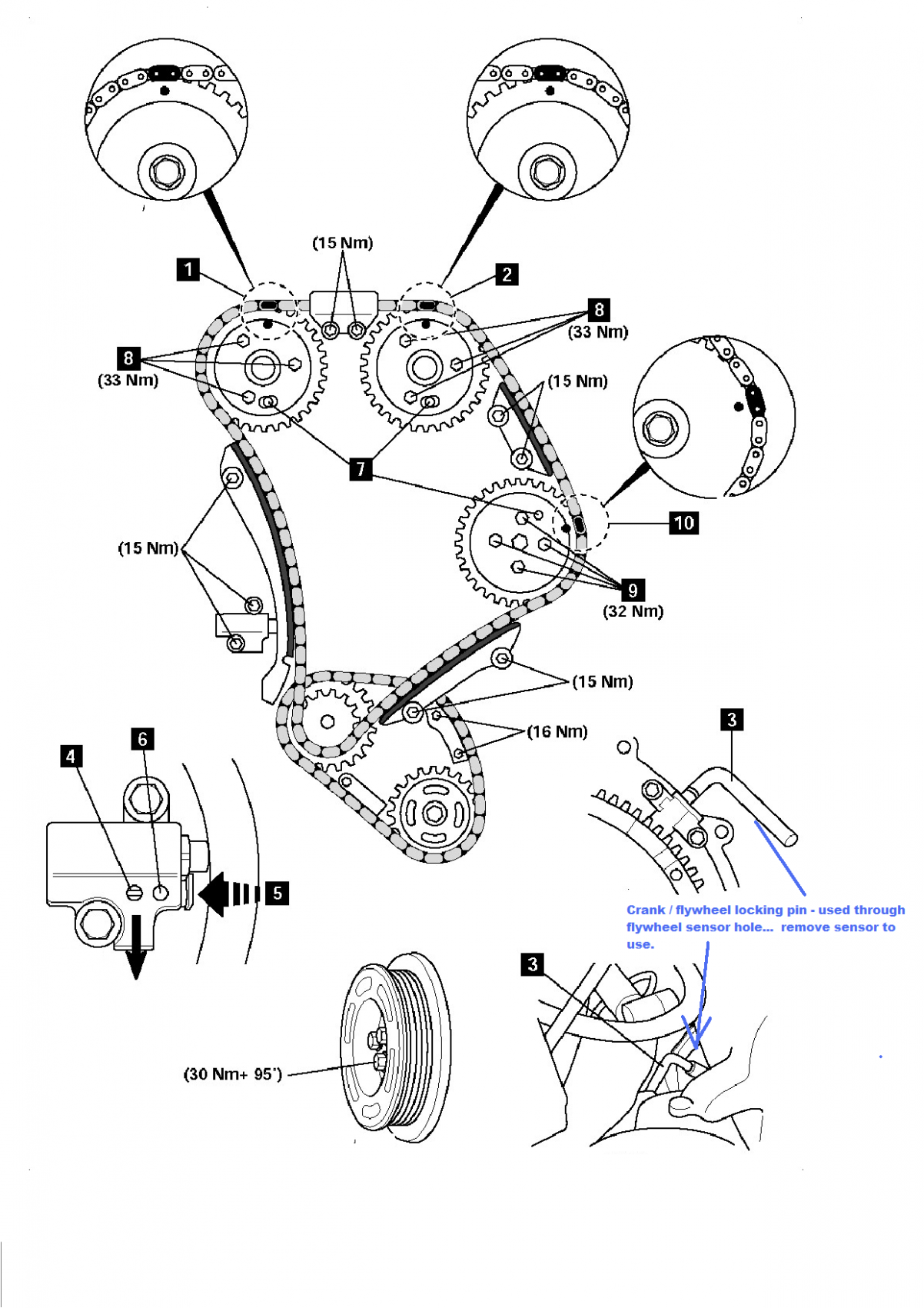 Engine Diagram Of The Timing Marks Engine Diagram Of The