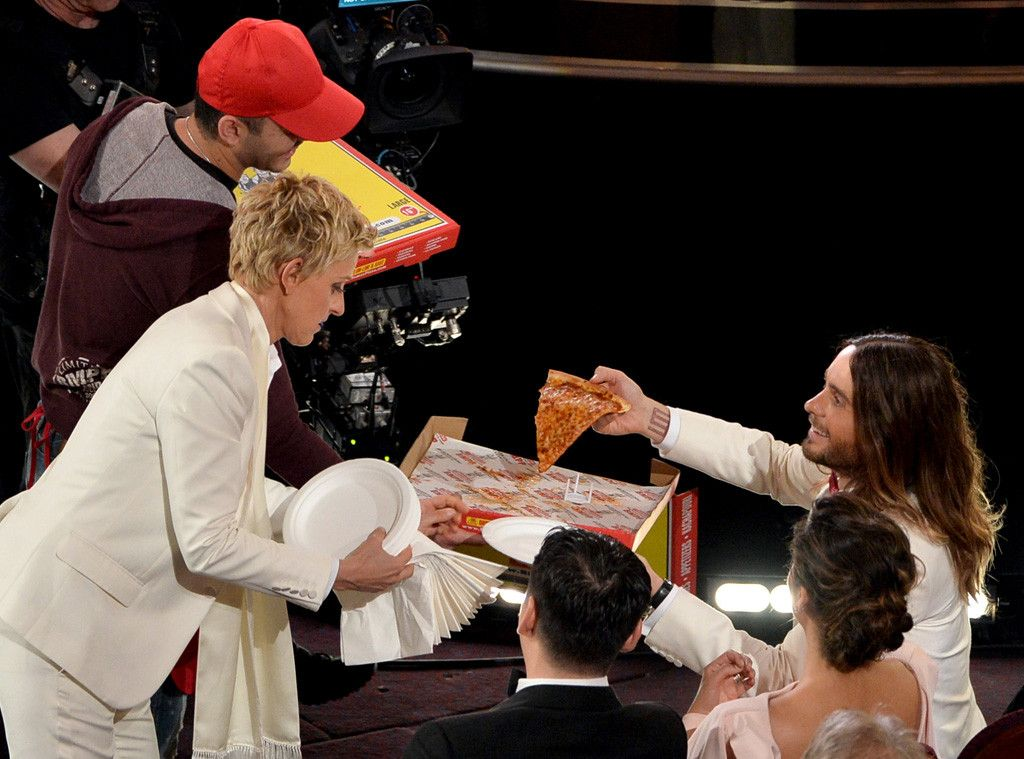 Ellen's Pizza Passing from 2014 Oscars All Access Photos ...