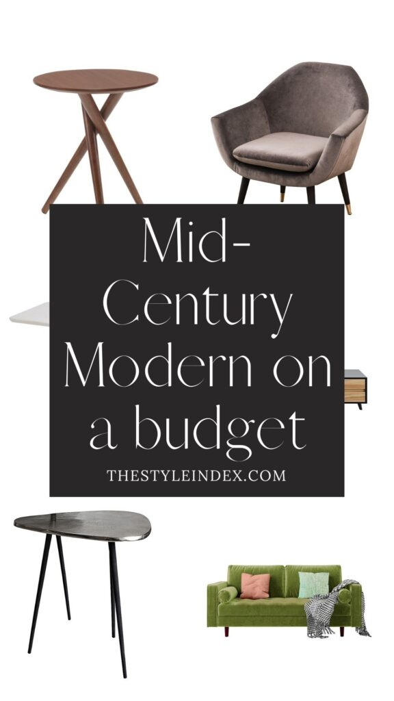 Mid Century Modern On A Budget The Style Index Mid Century Modern Mid Century Unique Furniture Pieces