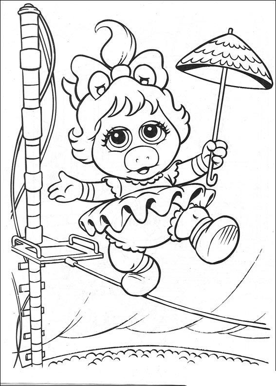 Muppet Babies coloring page - Miss Piggy | the muppets | Pinterest ...