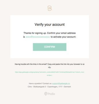 Please Verify Your Email Address To Activate Your Beagle Account