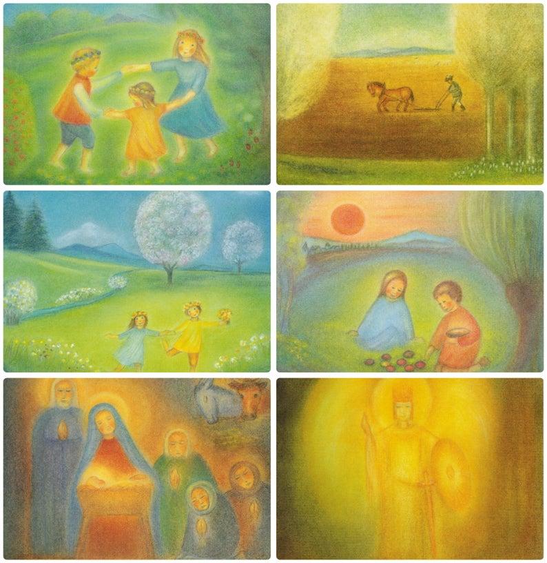 Waldorf Monats Kunstkarten Von Ruth Elsasser Postkarten Etsy Postkarten Schiefertafelzeichnungen Poster