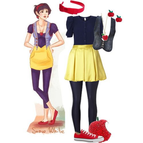 Hipster snow white...possible Halloween outfit??
