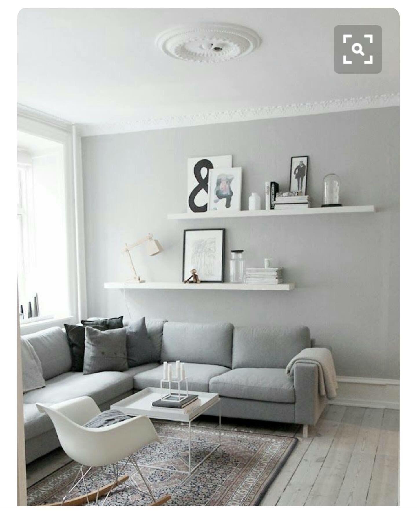 Grey, simple, scandi living area | Bedroom decorating ideas ...