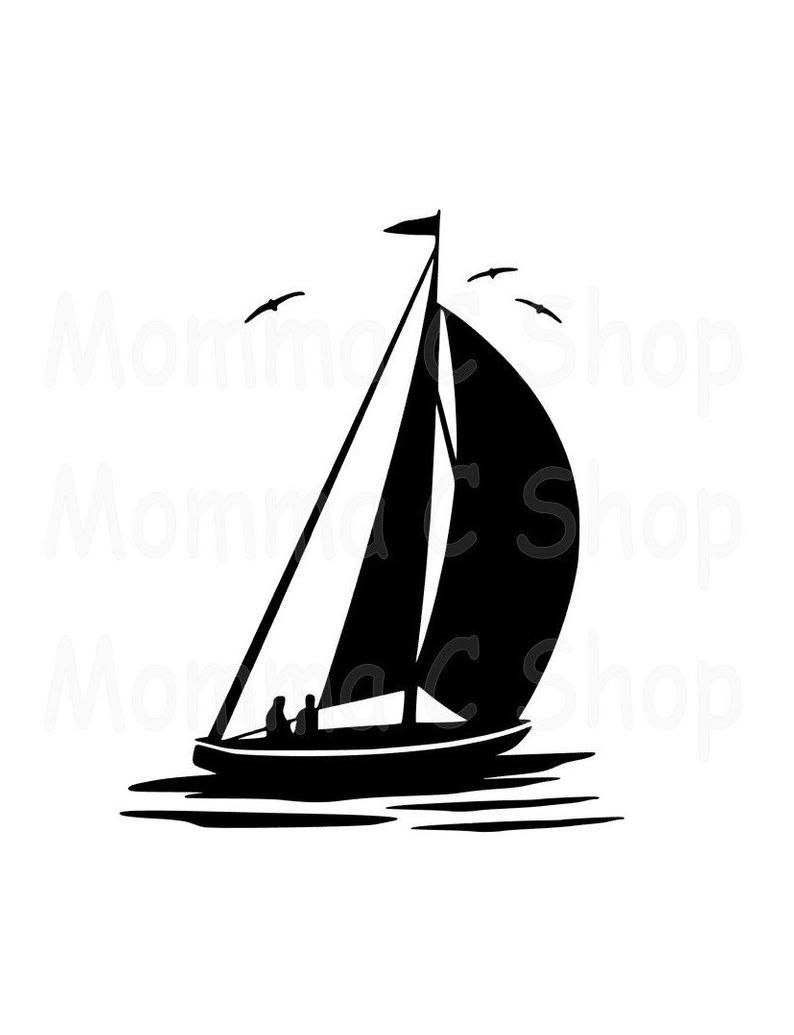 Sailboat One Color Svg Instant Digital Download File Cuttable