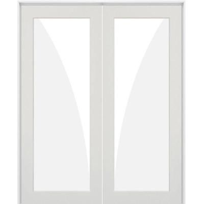 Krosswood Doors 56 In X 80 In Craftsman Shaker 1 Lite Satin Etch Right Handed Mdf Solid Hybrid Co Prehung Interior Doors Doors Interior French Doors Interior