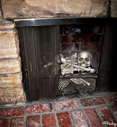 Skeleton In The Fireplace