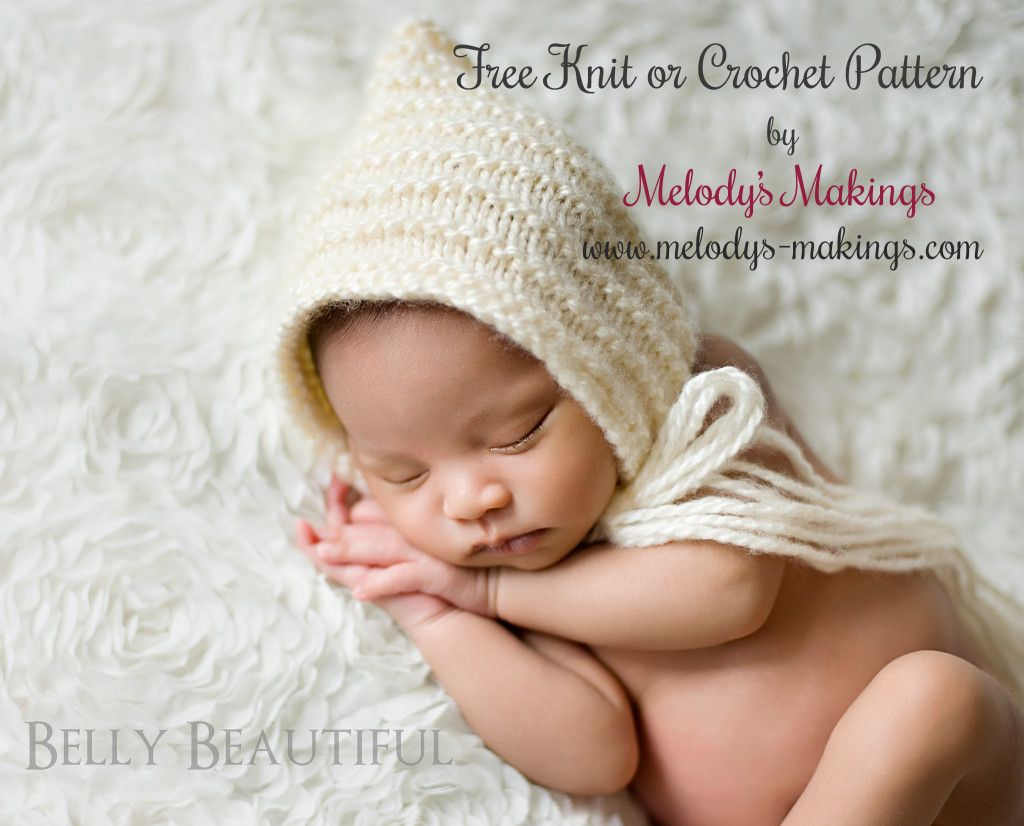 Free pattern both a knit and crochet version are available of free knit or crochet textured pixie bonnet pattern perfect for any baby or toddler in your life bankloansurffo Image collections