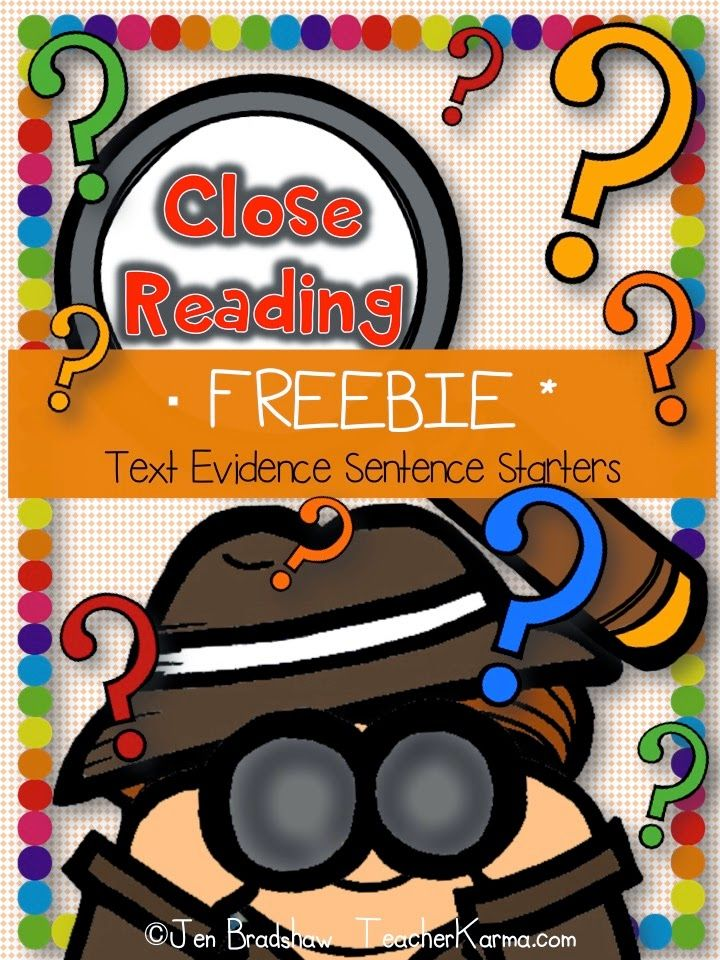 FREE Close Reading Strategy:  Using Sentence Starters to Answer Questions…
