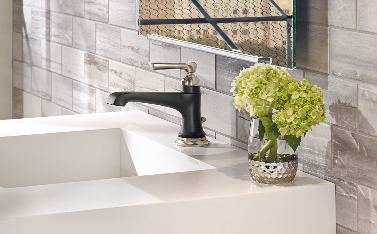 How To Mix Modern + Traditional In The Bathroom
