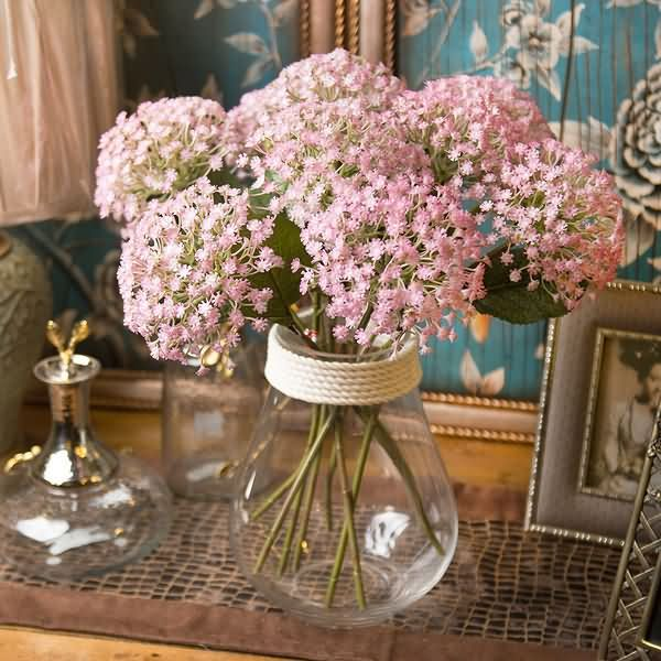 8 Artificial Baby Breath Bouquet Flower Tall 45cm No Vase Silk