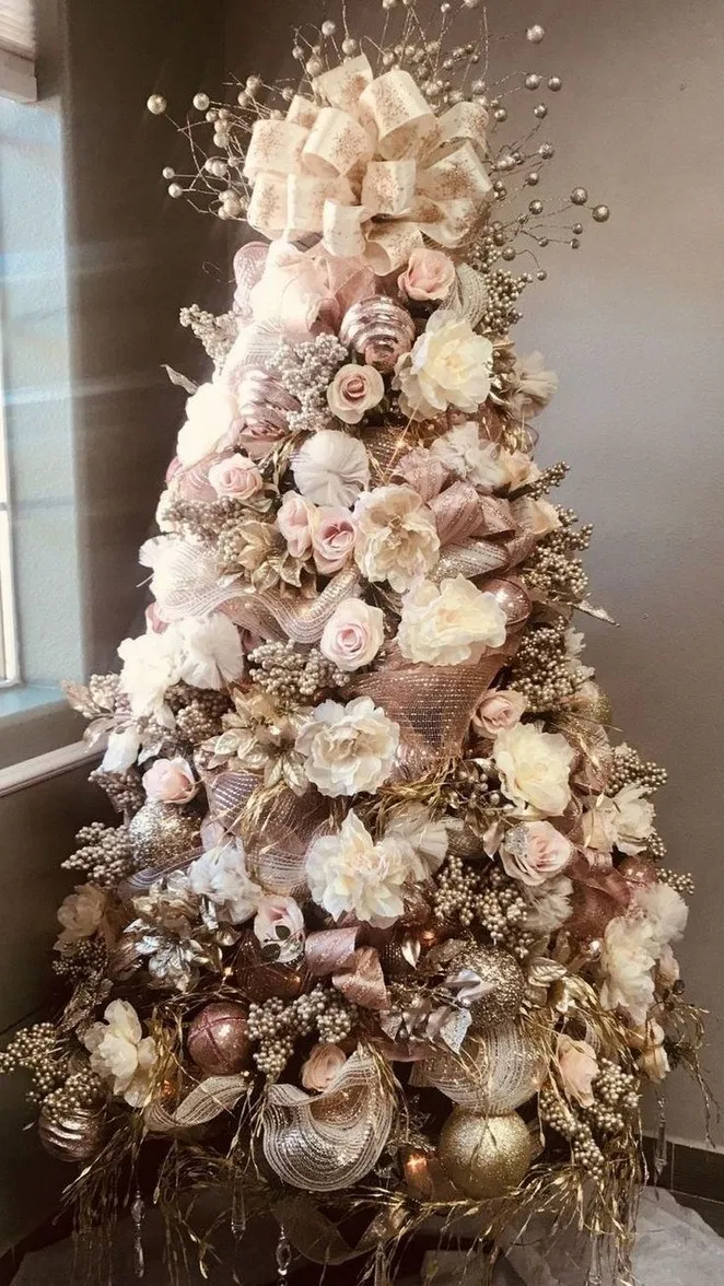 45 Elegant White Winter Wonderland Themed Decoration Ideas Pw9 Org Pink Christmas Decorations Gold Christmas Tree Decorations Pink Christmas