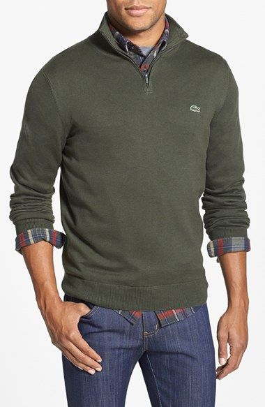 01beedf1153 Free shipping and returns on Lacoste Quarter Zip Sweater at Nordstrom.com.  A casual