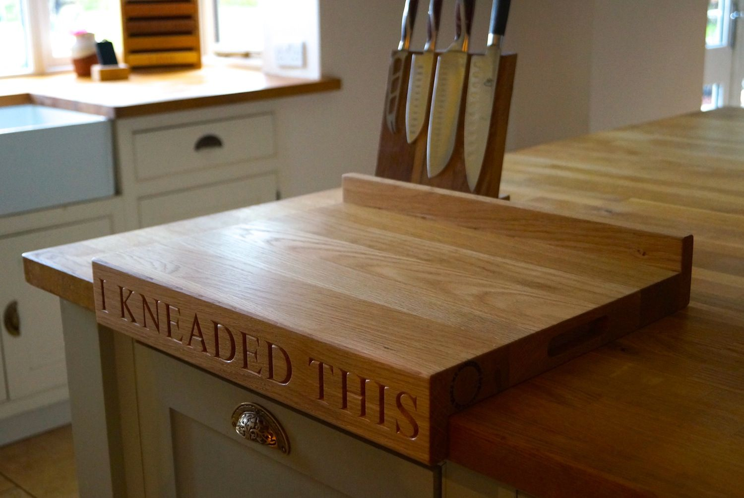 Chopping Table Kitchen Oak Chopping Board With Lipped Edge Makemesomethingspecial