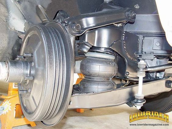 Lowrider Magazine Shows How To Install An Air Bag Suspension On