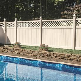 Freedom Actual 5 83 Ft X 7 83 Ft Ready To Assemble Conway White Vinyl Lattice Top Panel 73030229 In 2020 Vinyl Fence Panels Fence Panels White Vinyl