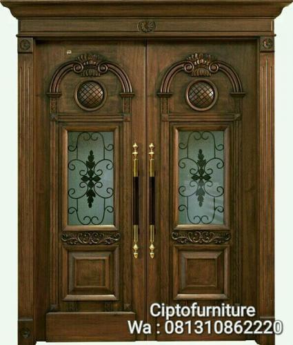 luxury teak wood door