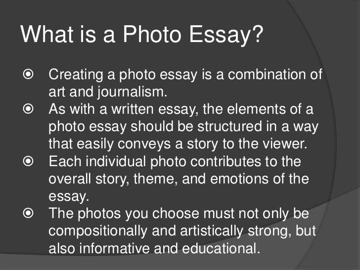 Good photo essay topics