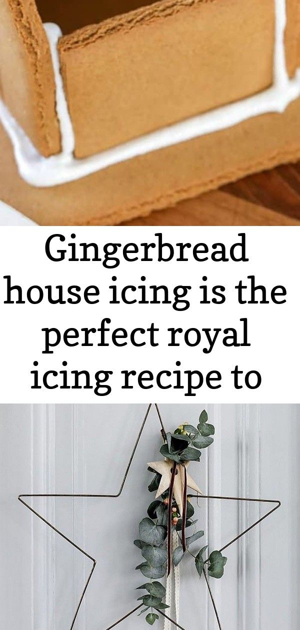 Gingerbread house icing is the perfect royal icing recipe to hold together all of your baked gingerb #easyroyalicingrecipe