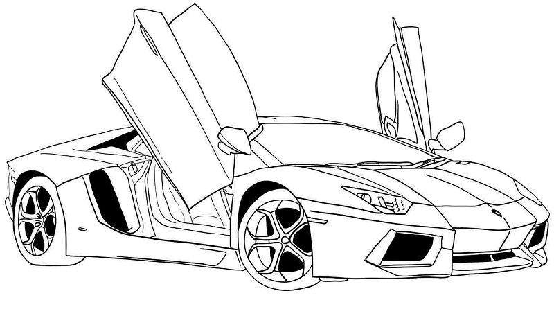 Racing Car Lamborghini Gallardo S70 4 Coloring Page Lamborghini
