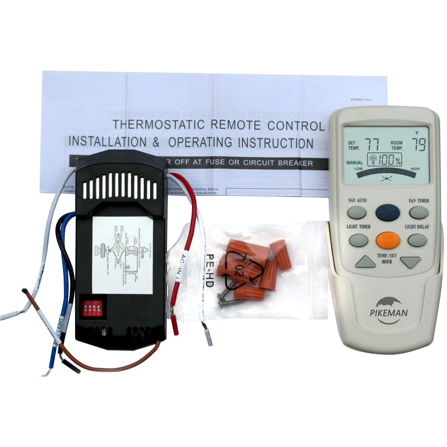 Universal Ceiling Fan Remote Control And Receiver Complete Kit Replace Hampton Bay Thermostatic Lcd Hampton Bay Ceiling Fan Ceiling Fan With Remote Ceiling Fan