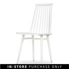 scandi back dining chair white