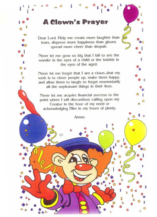Clown Prayer